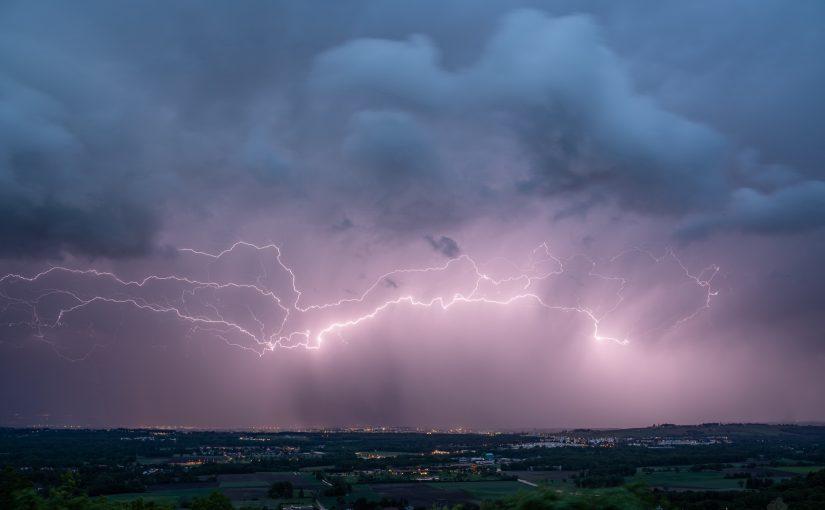 Soirée orageuse dans le Pays de Gex ce lundi 24